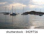 ship harbor croatia primosten | Shutterstock . vector #3429716