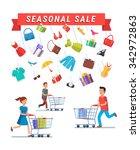 seasonal sale advert banner.... | Shutterstock .eps vector #342972863