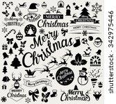 merry christmas  icons set...   Shutterstock .eps vector #342975446