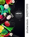 abstract polygonal menu... | Shutterstock .eps vector #342975593
