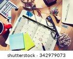calender planner organization... | Shutterstock . vector #342979073