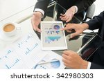 business partners using digital ... | Shutterstock . vector #342980303
