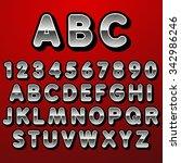 stock vector font pointillism.... | Shutterstock .eps vector #342986246