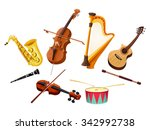Musical Instruments. Vector...