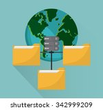 networking concept and... | Shutterstock .eps vector #342999209