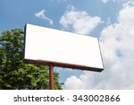 blank billboard template with... | Shutterstock . vector #343002866