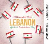 retro lebanese republic... | Shutterstock .eps vector #343003250