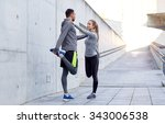 fitness  sport  people and... | Shutterstock . vector #343006538