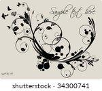 vector flower background | Shutterstock .eps vector #34300741