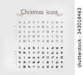 pixel perfect christmas icons. ... | Shutterstock .eps vector #343018463