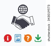 world handshake sign icon.... | Shutterstock .eps vector #343019573