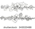 seamless floral pattern with... | Shutterstock . vector #343020488