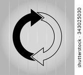 arrow indicates the direction ... | Shutterstock .eps vector #343025030