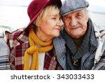 affectionate senior couple in... | Shutterstock . vector #343033433