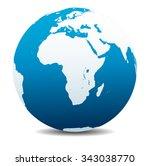africa  arabia global world  ... | Shutterstock . vector #343038770