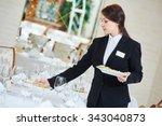 restaurant catering services.... | Shutterstock . vector #343040873