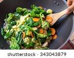 portrait of people cooking... | Shutterstock . vector #343043879