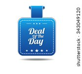 deal of the day blue vector... | Shutterstock .eps vector #343049120