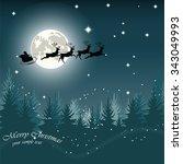 Christmas Eve Card With Santa's ...