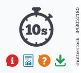 timer 10 seconds sign icon.... | Shutterstock .eps vector #343052180