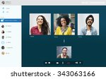 video call chatting... | Shutterstock . vector #343063166