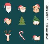 vector illustration christmas... | Shutterstock .eps vector #343065884