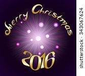 2016 numbers of christmas... | Shutterstock . vector #343067624