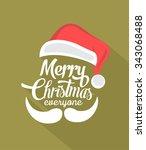 christmas typographic... | Shutterstock .eps vector #343068488