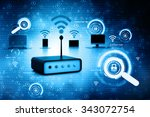 digital illustration of network ... | Shutterstock . vector #343072754