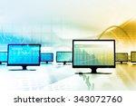 business stock market graph... | Shutterstock . vector #343072760