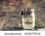 chocolate chips cookie mix for... | Shutterstock . vector #343075910