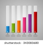 3d chart style infographic... | Shutterstock .eps vector #343083680