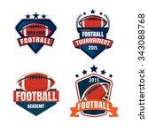 american football logo template ... | Shutterstock .eps vector #343088768