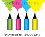 colors creation | Shutterstock .eps vector #343091243