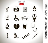 medical icons | Shutterstock .eps vector #343091750