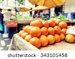 Fresh Organic Oranges At Local...