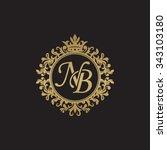nb initial luxury ornament...   Shutterstock .eps vector #343103180