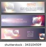 horizontal abstract banner set. ... | Shutterstock .eps vector #343104509