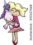 cartoon vector illustration of... | Shutterstock .eps vector #343107668