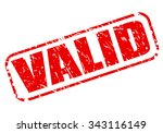 valid red stamp text on white   Shutterstock .eps vector #343116149