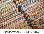 retro styled image of boxes... | Shutterstock . vector #343128869
