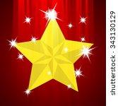 abstract christmas star. vector ... | Shutterstock .eps vector #343130129