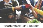 people meeting friendship... | Shutterstock . vector #343130309