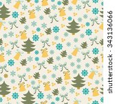 christmas background  seamless... | Shutterstock .eps vector #343136066