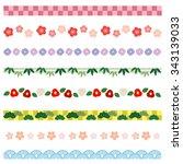 new year borders of japanese  ... | Shutterstock .eps vector #343139033