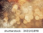 fireworks at new year and copy... | Shutterstock . vector #343141898