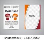 american football matchday back ... | Shutterstock .eps vector #343146050