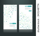 web banners with dots connected ... | Shutterstock .eps vector #343148774