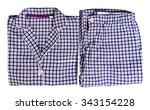 women's plaid pajamas white ... | Shutterstock . vector #343154228