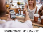 customer paying for their order ... | Shutterstock . vector #343157249
